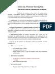 Instrucciones Del Programa Terapéutico - II Parte