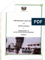 Management of Accra Meteropolitan Assembly Markets