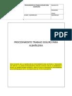 27 Pts 33 Procedimiento Trabajo Seguro Para Labores de Albanileria