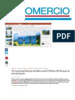 Lo nuevo de Windows 10