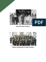 Kabinet Presiden Soekarno Sampai Jokowi