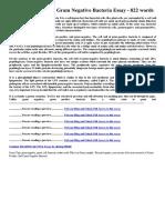 Gram Positive and Gram Negative Bacteria Essay 822 Words