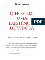 DELEUZE, Gilles. O homem, uma existência duvidosa (sobre as palavras e as coisas de Foucault).pdf