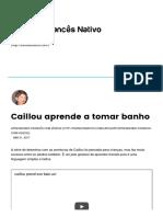 Caillou Aprende a Tomar Banho – FrancêsNativo