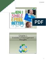 Chap 1.1 Evolution of Management