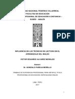 Monografia (Influencia de Las Técnicas de Lectura en El Aprendizaje Del Ingles)