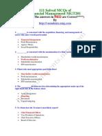 111SolvedMCQsofFinancialManagementMGT201
