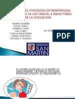 Menopausia, Inhibidores Lactancia, Inductores Ovulacion Expocision