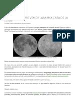 ¿Por Qué Siempre Vemos La Misma Cara de La Luna_ _ Ciencia de Sofá