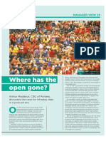 CTA Intelligence Magazine Issue 16_Where's the Open Gone