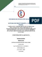 Informe de Estimación de Riesgo Llaqtapataccc