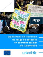 UNICEF Experiencias DRR Educacion Sudamerica