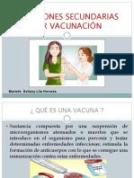 Reacciones Secundarias Por Vacunación