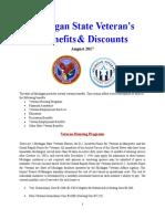 Vet State Benefits & Discounts - MI 2017