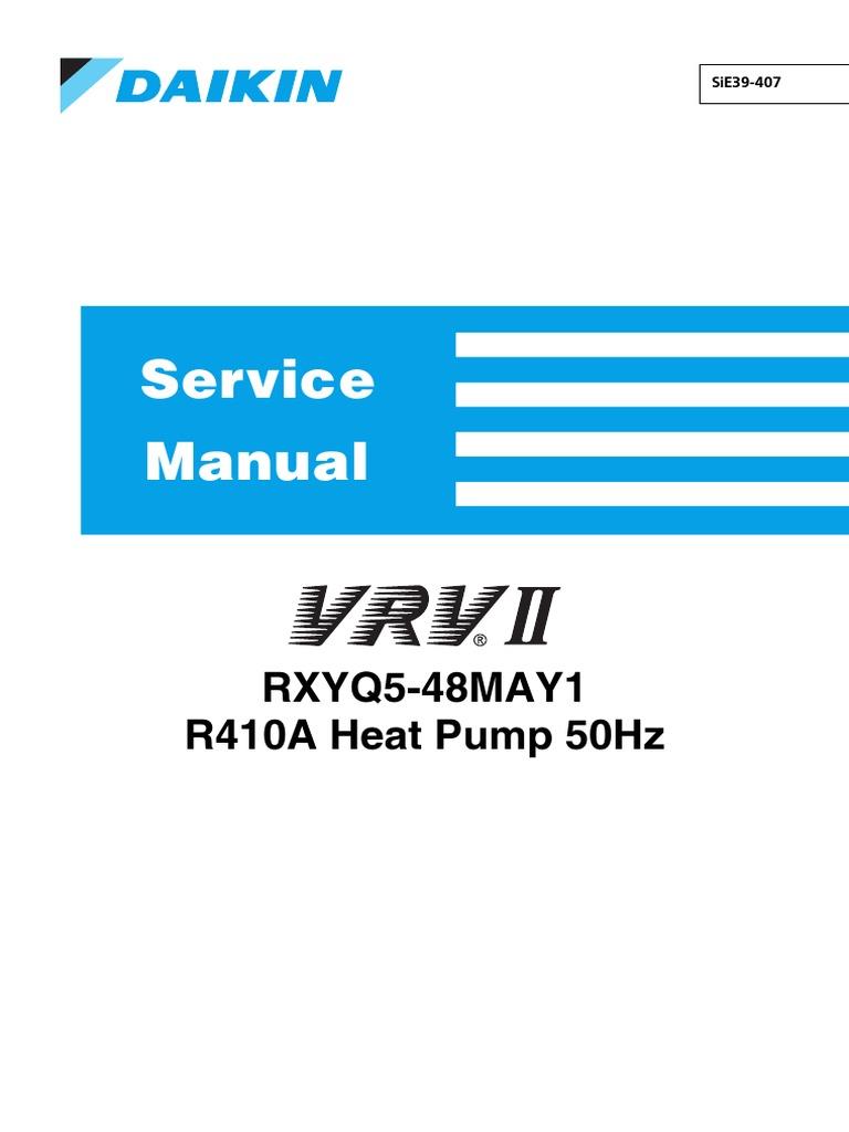 RXYQ-MAY1_SM-vrv2-daikin | Leak | Electrical Connector