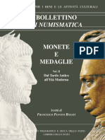 Supplemento Al n. 37 - MONETE E MEDAGLIE. Scritti Di Francesco - Roma 2004 a Cura Di Giuseppina Pisani Sartorio Vol.ii - Dal Tardo Antico All'Età Moderna