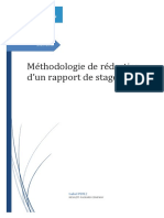Méthodologie de Rapport de Stage