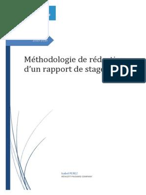 Méthodologie De Rapport De Stage Application Université