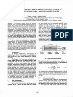 On the Transient Characteristics of Electrical Discharges and Ionization Processes in Soil