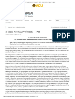 Flexner (1915) is Social Work a Profession - Social Welfare History Project