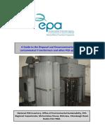 Disposal and Decontamination Guide for PCB-Contaminated Equipment Rev1.2