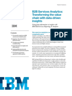 Solutions Guide - IBM B2B Services Analytics