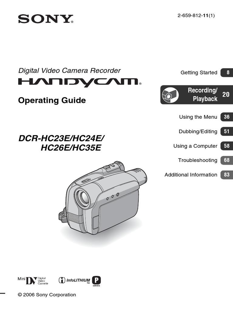 sony handycam dcr hc24e software windows 8.1