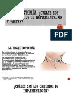 Traqueostomía Partes