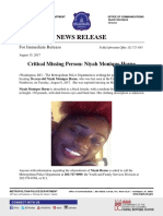 2017 08 15 Unit Block of O St NW Critical Missing Niyah Monique Horne