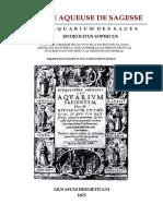 [Alchimie] Musaeum Hermeticum - La Pierre Aqueuse de Sagesse