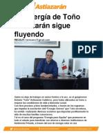 La Energía de Toño Astiazarán sigue fluyendo