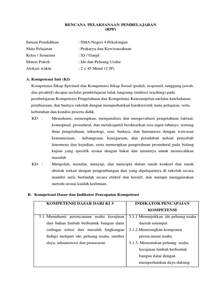 Rpp Kerajinan Xi Kd 3 1 Permen Baru