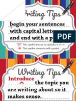 Writing Tips Posters