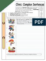 Writing Clinic Complex Sentences Fun Activities Games 5033