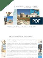 The Indian Summer Yoga Retreat in Salento Brochure