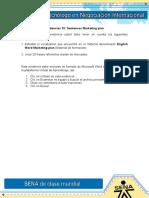 Evidencia 10 Sentences Marketing plan.doc