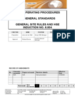 6-004 General Site Rules and HSE Induction
