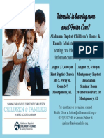 Foster Care Informational Meeting Flyer 2017