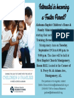 TIPs Foster Parent Training Classes Promo 2017
