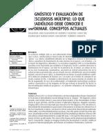 Diagnóstico y Evaluación de La Esclerosis Múltipl