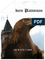 Plainsman Rate Card