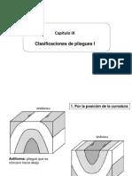 Cap X Clasificaciones de Pliegues