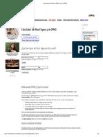 Calculador Del Nivel Sigma y de DPMO