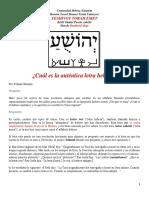 Cuál Es La Auténtica Letra Hebrea (ESTUDI0 BENDAVID)
