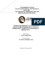 Modelo de Medición y Evaluación de Los Factores Internos de La Ventaja Empresarial Competitiva Sostenible