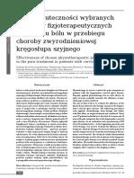 Fizykoterapia a Bol Kregoslupa Szyjnego