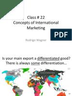 Class 22 - International Marketing