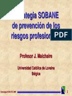 ESTRATEGIA SOBANE PARA LA PREVENCIÓN DE LOS RIESGOS PROFESIONALES
