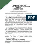 Tarifas y Tasas Nacionales Agencias en Derecho CSJ