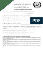 Avaliação 3ª Ano Irma Clarentina - Imprimir